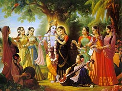 Krsna with gopis